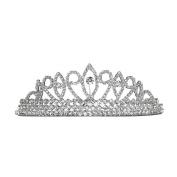 Bridal Pageant Crystal Rhinestone Prom Wedding Tiara Comb Silver Tone