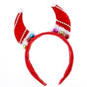 Healthcom Baby KidsHeadband Headwear Hairband with Bells for Christmas Cute Devil Horn