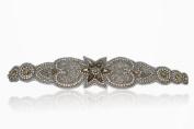Bridal Crystal Rhinestone Diamond Headband with Champagne Accent Rhinestones Adjustable Non-slip Comfortable for Wedding