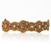 Bride Champagne Crystal Rhinestone Diamond Headband Adjustable Non-slip Comfortable for Wedding