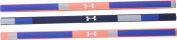 Under Armour Women's UA Colour Blocked Mini Headband 3-pack (Youth) Ultra Blue/After Burn/White Headband One Size