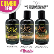 3 Pcs Combo Deal - Fisk Hair One Hair Cleanser & Conditioner