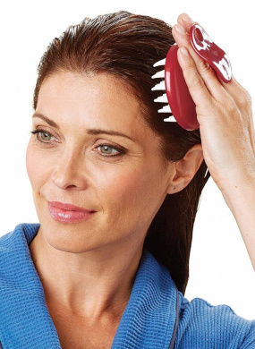 Set of 2 Scalp Hair Washing Comb Massaging Brush High Quality
