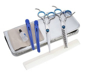 Professional Salon Haircut Barber Hair Cutting Flat Dentate Stainless Steel Scissors Set w by Abcstore99