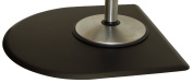 IC Urethane 1.2m X 1.2m x 1.6cm (CHARCOAL) Salon Barber Mat Half Round No Depression +FREE YS Park Clips ($15 value) BEST Mat In Industry!