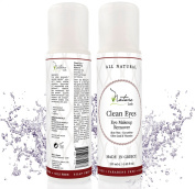 The BEST NATURAL Eye Makeup Remover - Oil Free - Rich Vitamins - Non Irritating - Removes Eye & Face Makeup, Mascara - 'Clean Eyes' by Nature Lush - Made in Greece - 130ml