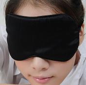 iSleep Pure Silk Sleeping Eye Mask Eyeshade 22*10CM Black