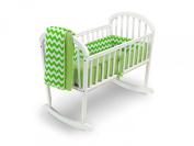 Baby Doll Chevron Cradle Bedding, Green