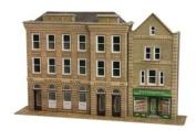 Metcalfe PO271 OO/HO Low Relief Bank & Shop