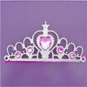 6 Girls Silver Princess Tiaras - Party bag fillers toys