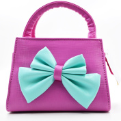 LA HAUTE Little Girls Fashion Tote Handbag Adorable Bowknot Purse Shoulder Bag Corssbody Bag