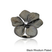 Riccova Brass Cubic Zirconia Flower Ring