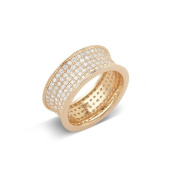 Rose Goldplated Micropave Cubic Zirconia Ring