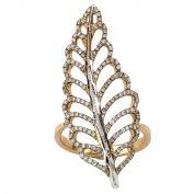 Diamonds for a Cure 18k Rose Gold 5/8ct TDW Diamond Leaf Ring