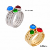 NEXTE Jewellery Coloured Cubic Zirconia 4-piece Stackable Ring Set