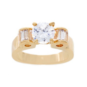 NEXTE Jewellery 14k Gold Overlay Round and Baguette Cubic Zirconia Ring