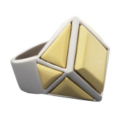 NEXTE Jewellery Two-tone Architectural Urban Ring