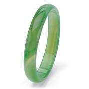 PalmBeach Genuine Green or Red Agate Bangle Bracelet 23cm Naturalist