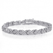 Diamond 1ct TDW Fashion XO Bracelet