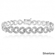 DB Designs 1/2ct TDW Diamond Heart Link Bracelet