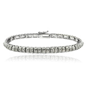 DB Designs 1/2ct TDW Diamond Studded Tennis Bracelet