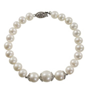 Pearls For You Silver White Freshwater Pearl Bracelet
