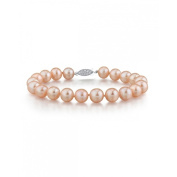 Radiance Pearl 14k Gold AAA-quality Peach Freshwater Pearl Bracelet