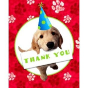 Puppy Party Thank You Notes w/ Envelopes