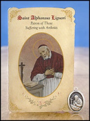 (Price/6)Milagros MC013 St Alphonsus Liguori (Arthritis) Healing Holy Card with Medal