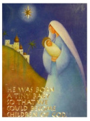 Trimmerry Children Of God Christian Christmas Cards with Mary & Baby Jesus