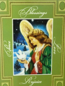 Trimmerry Green Blessing & Love Angel Christian Christmas Cards
