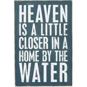 Heaven Is Closer In A Home By The Water - Mailable Wooden Greeting Post Card 15cm