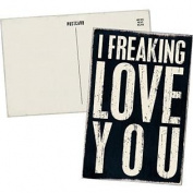 I Freaking LOVE YOU - Mailable Wooden Greeting Card for Birthdays, Anniversaries, Weddings, and Special Occasions