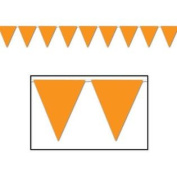 30m Orange Pennant Flag Banner Party Event