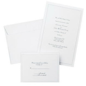 (Price/package)Gartner Studios 61001 Pearl White Border Wedding Invitation Kit