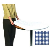 Kwik Covers 60PK-BW 150cm . ROUND PACKAGED KWIK-COVER- BLUE GINGHAM