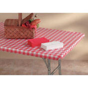 3096Pk-Rw 80cm X 240cm Packaged Kwik-Cover- Red Gingham- Pack of 25