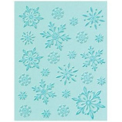 Textured Impressions Embossing Folder with Stamp - Snowflake Background Set by Hero Arts