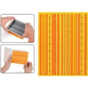 Textured Impressions Embossing Folder with Stamp - Fun Stripes Set by Hero Arts