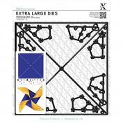 docrafts Xcut Straight Pinwheel Decorative Dies, X-Large 326220 DOCrafts