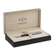 Parker Premier Ballpoint Pen, Deep Black Lacquer with Tartan Chiselling