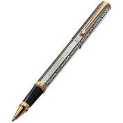 Xezo Legionnaire 18-Karat Gold, Platinum Plated Rollerball Pen, Art Nouveau Style