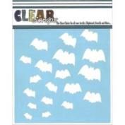 Clear Scraps Stencils 30cm x 30cm -Bats