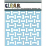 Clear Scraps Stencils 30cm x 30cm -Bones