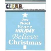 Clear Scraps Stencils 30cm x 30cm -Word Christmas Tree