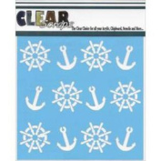 Clear Scraps Stencils 15cm x 15cm -Anchors & Helms