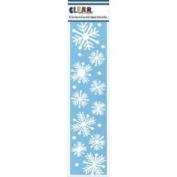 Clear Scraps Border Stencils 7.6cm x 30cm -Nordick Snowflakes