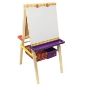 B. Easel Does It. Folding Wooden Art Easel with Chalkboard, Whiteboard, and Storage Bins
