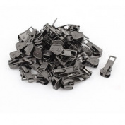 Clothes Jackets Tents Purses Pull Tab Zipper Slider Repair Kit Grey 50 PCS