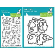 Lawn Fawn Critters Ever After Clear Stamp and Die Set - Includes One Each of LF382 (Stamp) & LF590 (Die) - Custom Set